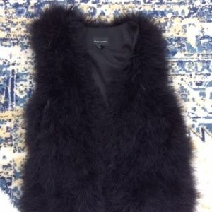 Club Monaco faux fur vest XS